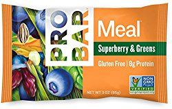 A single Pro Bar Superberry Meal Bar protein bar