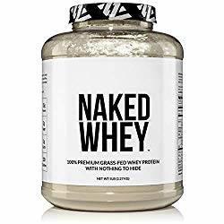 Tub of Naked Whey Protein powder