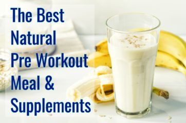Peanut butter banana smoothie for a natural pre workout meal