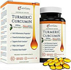 A1 Vitality brand turmeric curcumin supplement