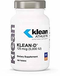 Klean Athlete Klean-D 5000 IU vitamins