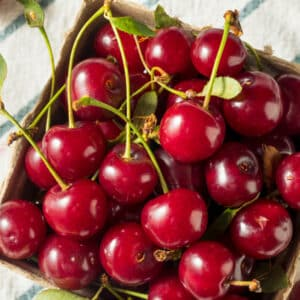 A bushel oif tart cherries which is one of many foods that help joint pain