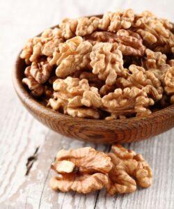 Bowl of walnuts.